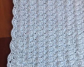 Blue Baby Blanket | Baby Boy Gift | Baby Boy Blanket | Baby Shower Gift | Crochet Baby Blanket | Newborn blanket gift | Lace Baby Blanket