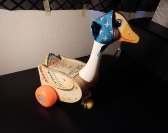 Vintage Mother Goose pull toy