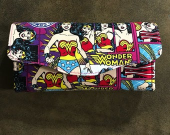 Necessary Clutch Wallet / Women's Wallet / Wonder Woman Wallet / Wristlet / NCW / Clutch
