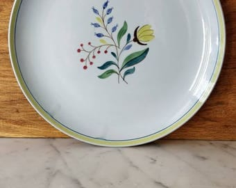 Hand painted serving plate by Petrus Regout