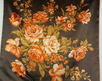 S'MICHAEL  floral design vintage scarf, made in Italy - like new condition