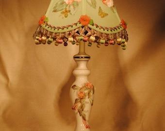 Flower Ceramic Boudoir Lamp