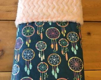 Dreamcatcher themed baby blanket