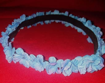 Blue flower head band
