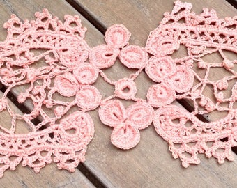 Doily, bookmarks made of silk. Length 37 cm.