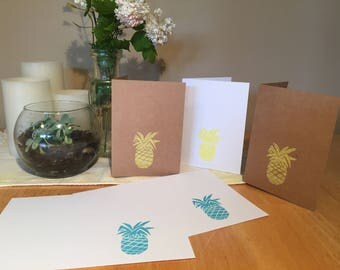 Hand stamped cards