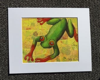 Red-Eyed Tree Frog (11X14 Matted Print)
