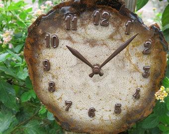 Petrified Palm Wood, Natural Stone Wall Clock, FREE Shipping