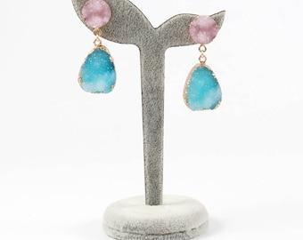 1 pair cute resin earrings dangle earring for women