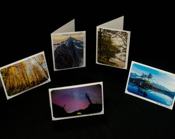 Set of Five Blank Photo Cards, Original Landscape Photography by Bobby Olsen (Adventure Pack #1)