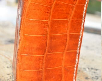 Hand made Alligator wallet, leather wallet,wallet,genuine alligator,Florida,leather,made in USA