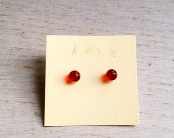Glass earrings/tiny earrings/glasses accessories/mother day/teacher present/red earrings/special presents/work earrings