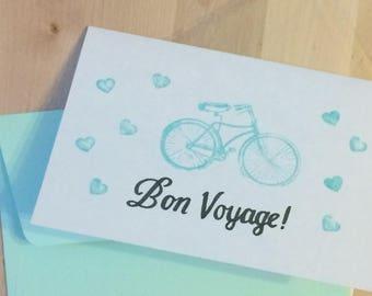 SALE! 20% OFF!!! Bon Voyage Bicycle card