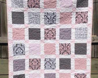 Handmade baby / toddler quilt