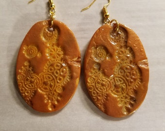 Steam Punk Polymer Clay Earrings