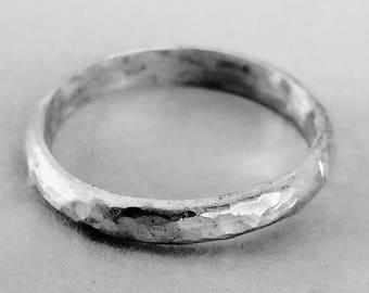 T-E-X-T-U-R-E sterling silver ring band