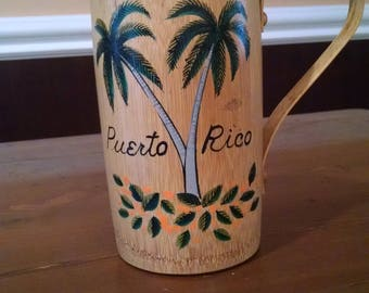 Puerto Rico Bamboo Pitcher