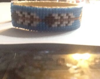 Native American (Choctaw) beaded cuff bracelet.