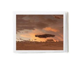 Sand & Sunset Clouds Notecard