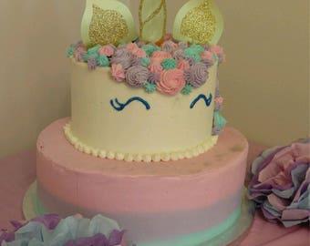 Unicorn Horn Cake Topper