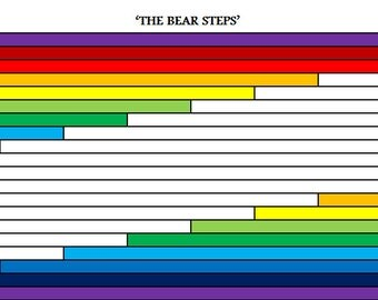 PDF Baby Quilt PATTERN....Quick and Easy...Jelly Roll friendly...'The Bear Steps' ... Instant download