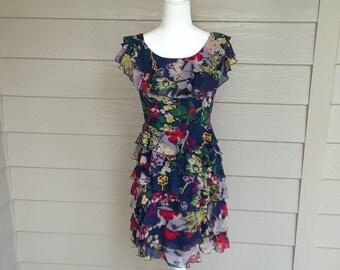 Curve Hugging Ruffled Dress