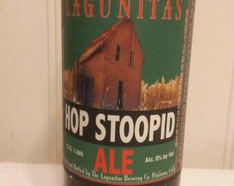 Lagunitas Hop Stoopid Vase Upcycled Beer