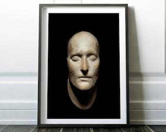 Napoleon's death mask print / Napoleon poster / Napoleon print / Napoleon art / Napoleon Bonaparte / Wall art / Art print /