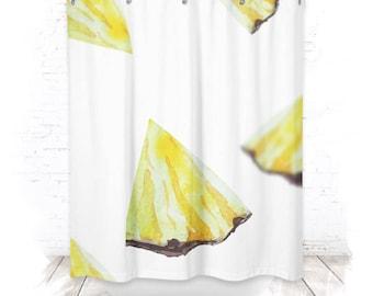 Shower curtain / shower curtain 150cm pineapple II