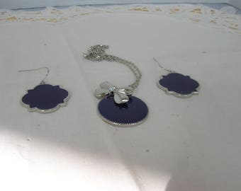 A pendant and earring set