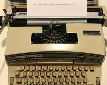 1970s Smith & Corona Cartridge 12 Typewriter