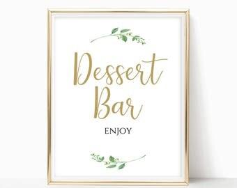 Printable Dessert Bar Sign Dessert Bar Printable Dessert Bar Wedding Dessert Table Printable Instant Download 4x6, 5x7, 8x10 DIY Jasmine