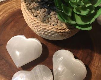 Large Selenite Heart