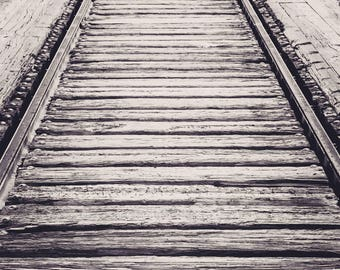 Railroad Trestle in B&W