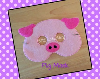 Pig Mask- Child's Dress Up and Imaginary Play-Birthday Party Favor-Photo Shoot-Pretend Play-Theme Party-Felt Mask-Pig Party-Farm Animal MAsk