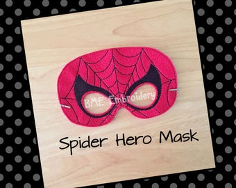 Spiderman Inspired Mask-Halloween Mask-Dress Up-Pretend Play-Super Heroes-Birthday Party Favor-Theme Party-Spiderman Mask-Photo Prop