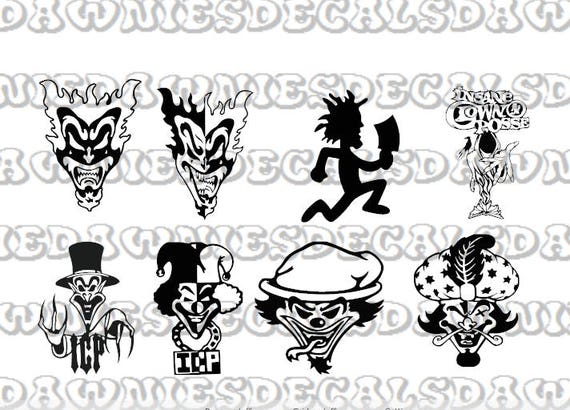 Bundle Insane Clown Posse Joker Cards Vinyl Decal Sticker Icp Coloring Pages