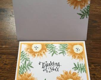 Orange Thinking of You card.