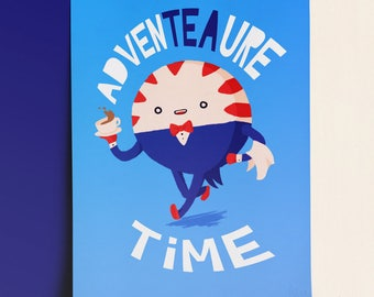 AdvenTEAure Time • A6 Art Print on 300gr matte paper, tribute illustration fanart of Peppermint Butler from Adventure Time