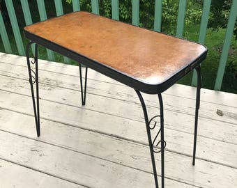 Vintage Mid Century Modern Hairpin End Table