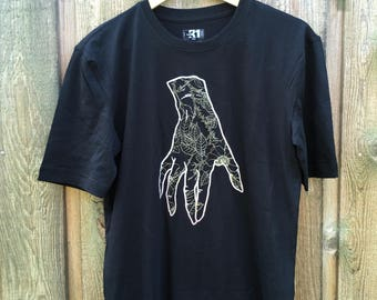 Original artwork on XSmall t-shirt, screenprinting, silkscreen, serigraphy