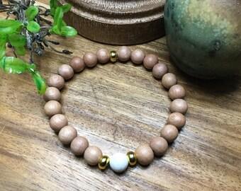 Wood Essentail Oil Stretch Bracelet