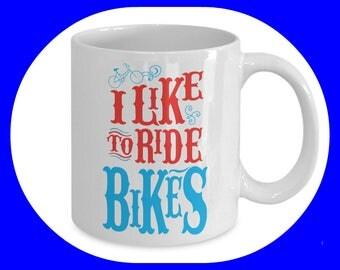 Cycling Mug - Bike Mug - Bicycle Mug - Cycling Gift - Cyclist Mug - Bicycle Coffee Mug