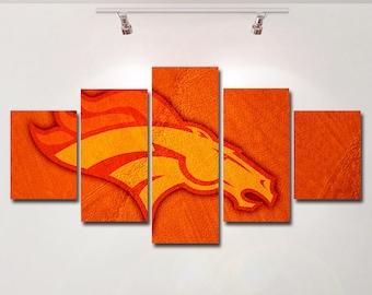 Denver Broncos Wall Decor denver broncos wall art | etsy