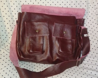 Messenger style Leather bag