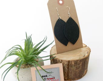 Leather earring set - 0002
