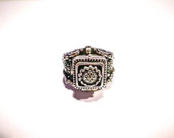 Silver Marcasite Poison Ring
