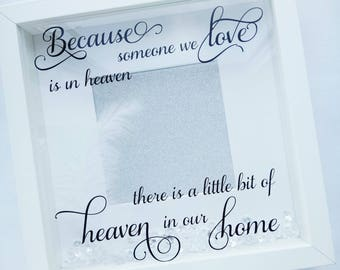 Memorial Photo Frame, Memory Frame, Memorial Gift, Remembrance frame, Bereavement Gift,heaven, lost loved ones, feathers, Memory Photo Frame