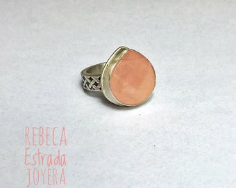 Faceted Rose Quartz ring