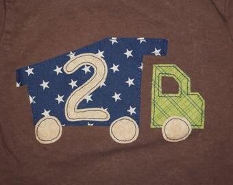 Boy's Dump Truck 2nd Birthday Shirt